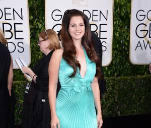 Lana Del Rey sur le tapis rouge des Golden Globes, le 11 janvier 2015 à Los Angeles
