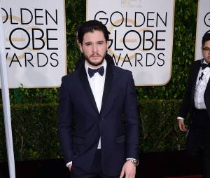 Kit Harington sur le tapis rouge des Golden Globes, le 11 janvier 2015 à Los Angeles