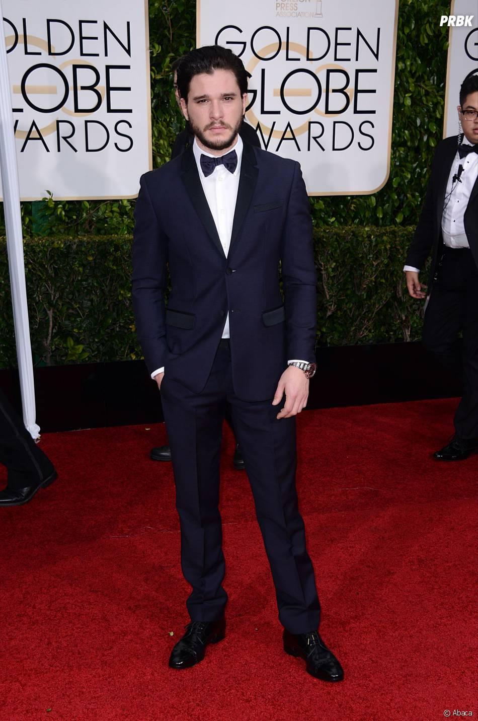 Kit Harington sur le tapis rouge des Golden Globes, le 11 janvier 2015 à Los Angeles