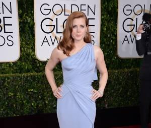 Amy Adams sur le tapis rouge des Golden Globes, le 11 janvier 2015 à Los Angeles