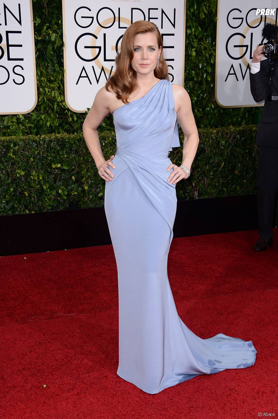 Amy Adams sur le tapis rouge des Golden Globes, le 11 janvier 2015 à Los Angeles