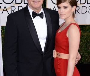 Kevin Spacey et Rooney Mara sur le tapis rouge des Golden Globes, le 11 janvier 2015 à Los Angeles