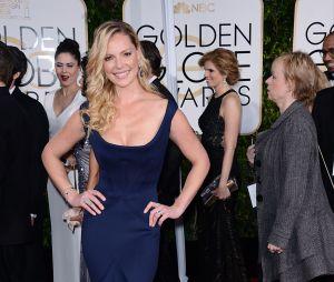 Katherine Heigl sur le tapis rouge des Golden Globes, le 11 janvier 2015 à Los Angeles