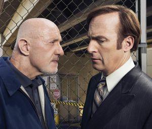 Better Call Saul : Jonathan Banks et Bob Odenkirk sur une photo