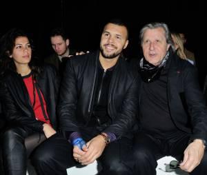 Jo-Wilfried Tsonga et sa petite-amie Noura au défilé Y3, le 25 janvier 2015 à Paris