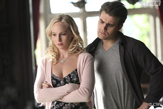 The Vampire Diaries saison 6, épisode 13 : Stefan (Paul Wesley) et Caroline (Candice Accola) se rapprochent