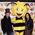 Maya l'abeille : Jenifer et Christophe Maé complices à l'avant-première du film à Paris le samedi 31 janvier 2015 avec Maya