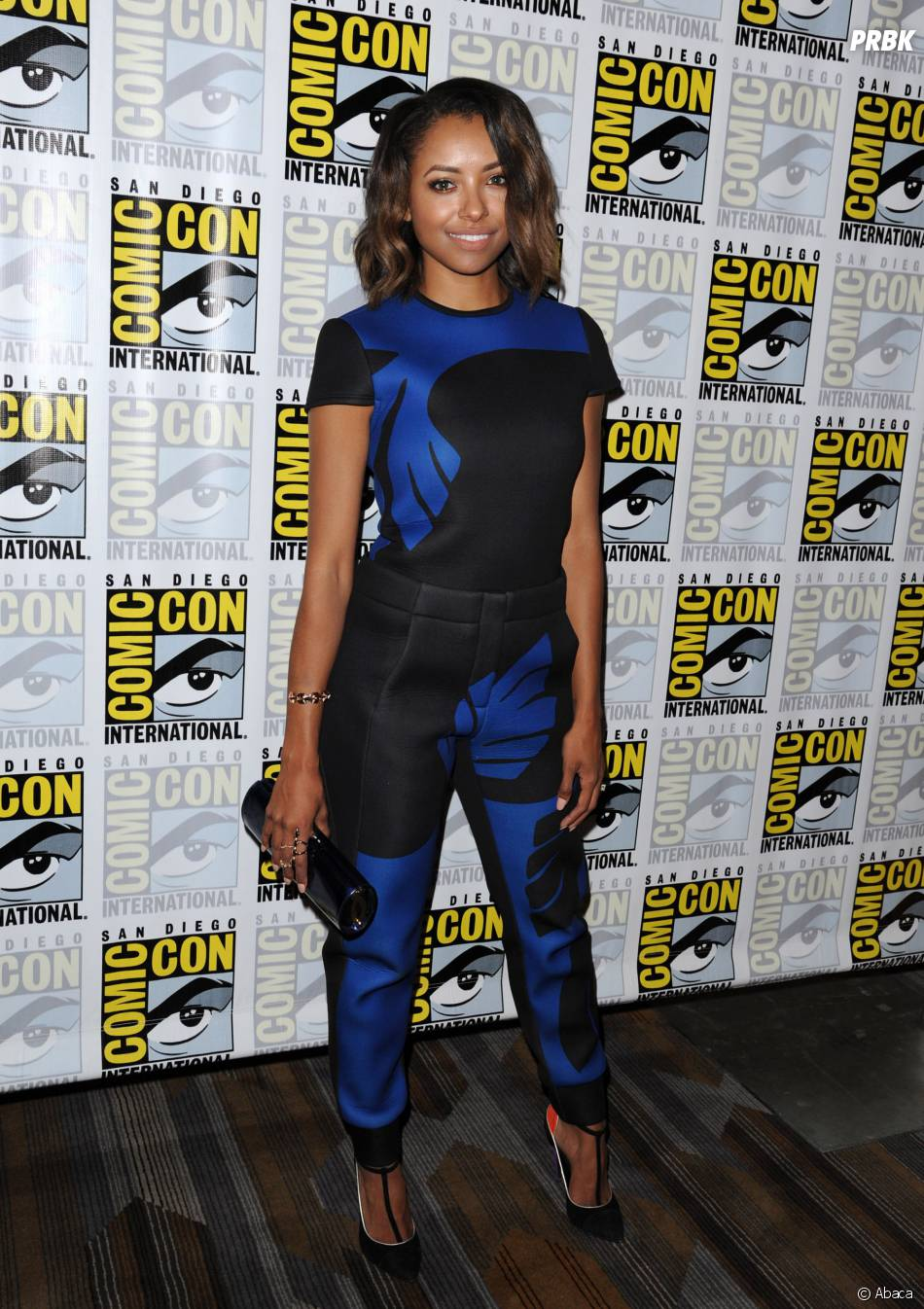 Kat Graham en mode carré flou au Comic Con 2014