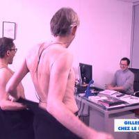 Gilles Verdez et Julien Courbet (presque) nus dans le bureau du patron de D8