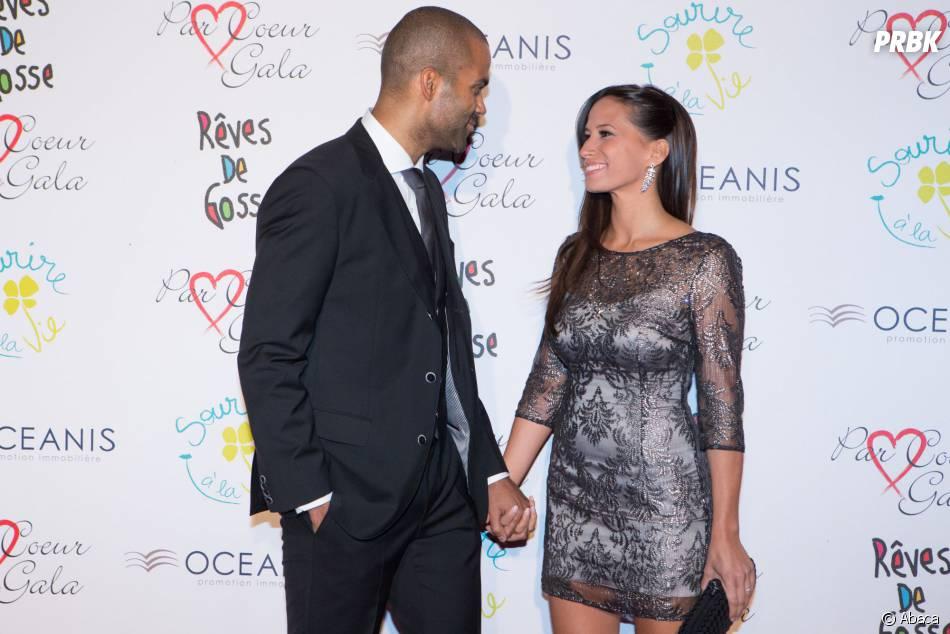 Tony Parker en couple avec Axelle Francine au 9ème gala Par Coeur, le 25 septembre 2014