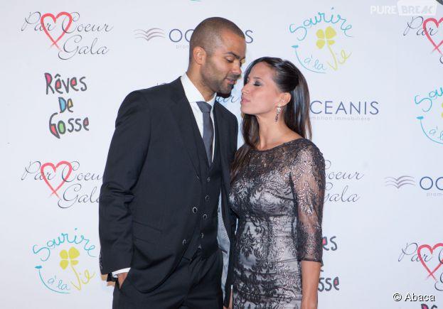 Tony Parker et Axelle Francine en couple au 9ème gala Par Coeur, le 25 septembre 2014
