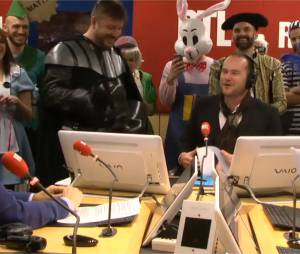 Bruno Guillon est intervenu durant la matinale de Philippe Corbé sur RTL, le 18 février 2015