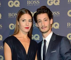 Pierre Nineyet sa petite-amie Natasha Andrews àla soirée GQ, au musée d'Orsay, le 19 novembre 2014