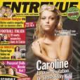 Caroline Receveur à demi nue en Une du magazine Entrevue d'octobre 2008