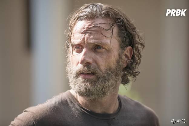 Andrew Lincoln et sa barbe dans la saison de 5 The Walking Dead