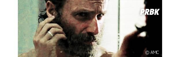 Rick se coupe la barbe dans la saison 5 de The Walking Dead