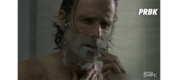 Rick sans sa barbe dans la saison 5 de The Walking Dead