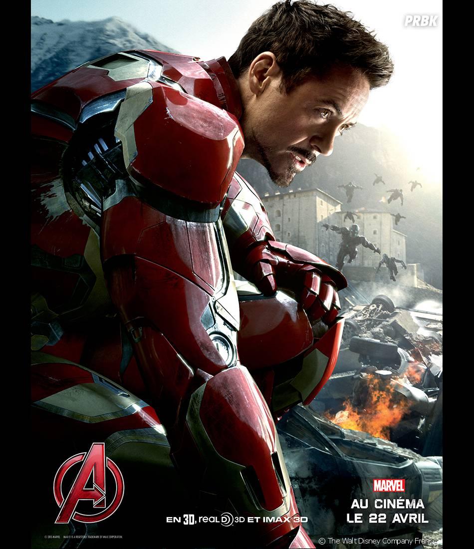 Avengers 2 : l'affiche d'Iron Man avec Robert Downey Jr