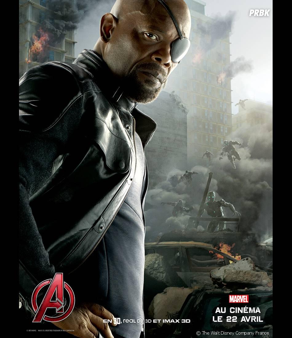 Avengers 2 : l'affiche de Nick Fury avec Samuel L. Jackson