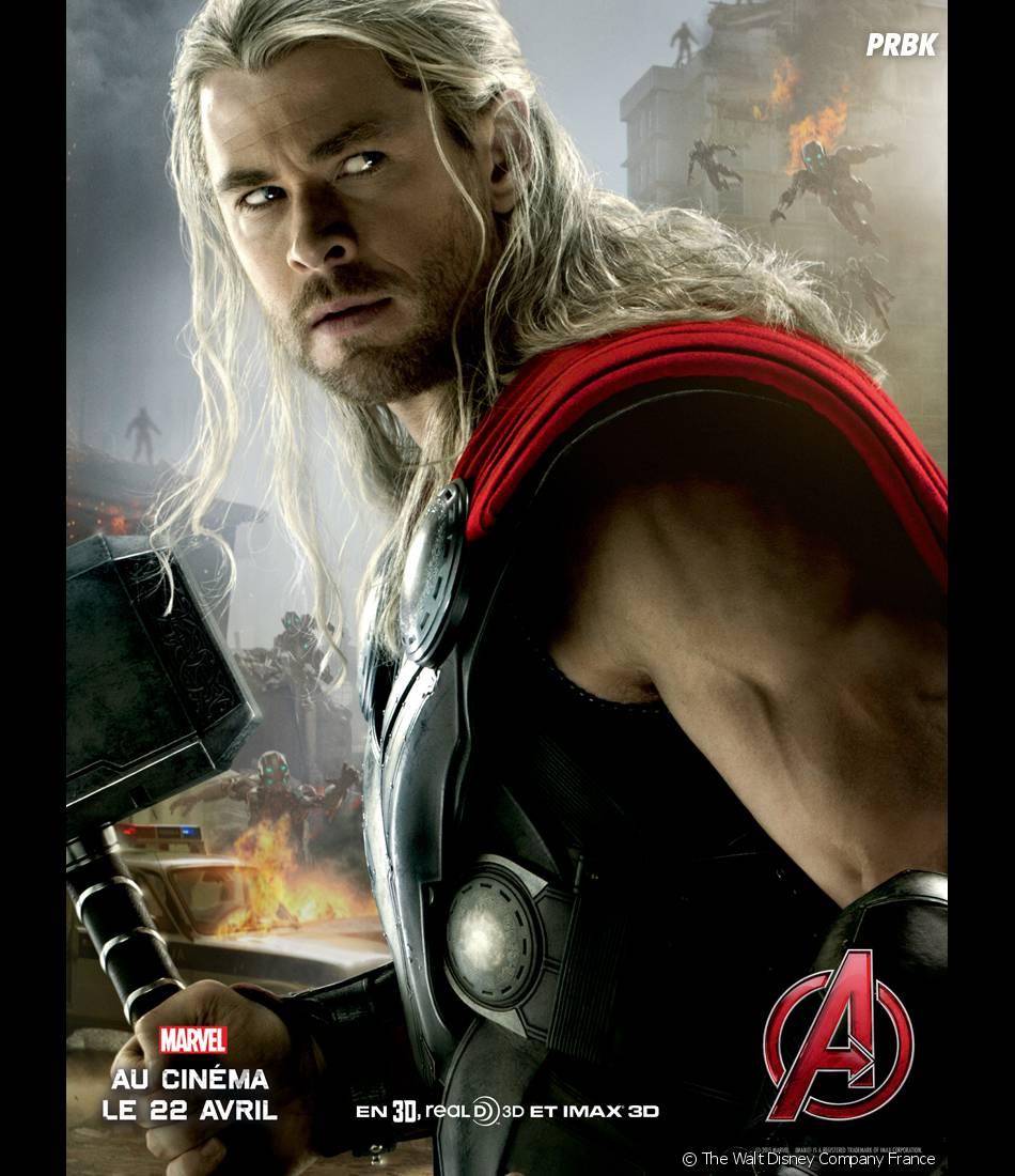 Avengers 2 : l'affiche de Thor avec Chris Hemsworth
