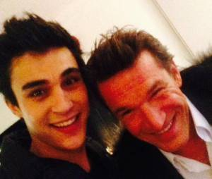 Martial (Nouvelle Star 2015) : son selfie avec Benjamin Castaldi