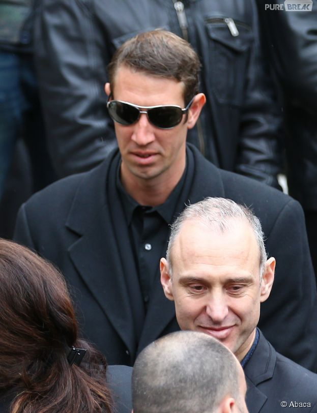 Alain Bernard à l'enterrement de la nageuse olympique Camille Muffat, le 25 mars 2015 à Nice