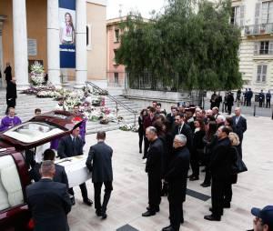 Enterrement de la nageuse olympique Camille Muffat, le 25 mars 2015 à Nice