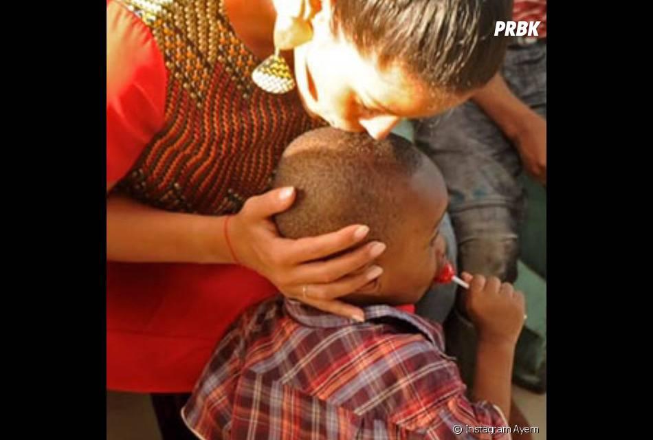 Ayem heureuse avec un orphelin du Gabon