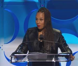 Alicia Keys lors de la conférence de presse TIDAL organisée par Jay Z, le 30 mars 2015