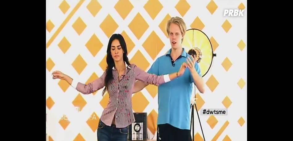 Leila Ben Khalifa en pleine souffrance dans Danse avec les stars