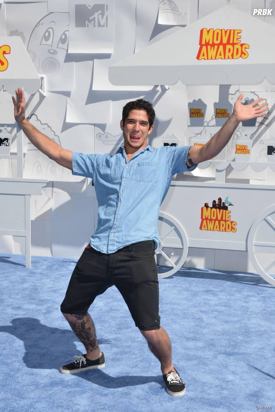 Tyler Posey sur le tapis rouge des MTV Movie Awards 2015 à Los Angeles, le 12 avril 2015