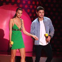 Emily Ratajkowski décolletée, Zac Efron torse nu... stars du tapis rouge des MTV Movie Awards 2015