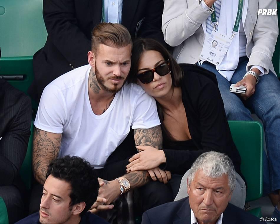 M. Pokora tatoué au côté de Scarlett Baya pendant Roland Garros 2014