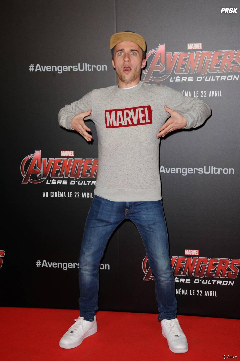 Avengers 2 : Squeezie à l'avant-première du film le mardi 21 avril 2015 à Paris