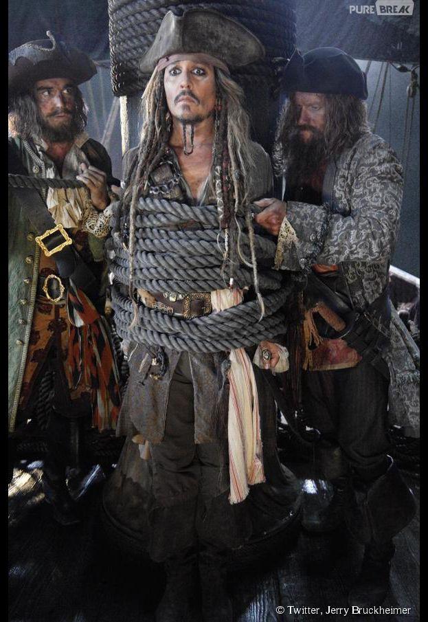 Pirates des Caraïbes 5 : première photo de Johnny Depp postée par Jerry Bruckheimer le 21 avril 2015 sur Twitter