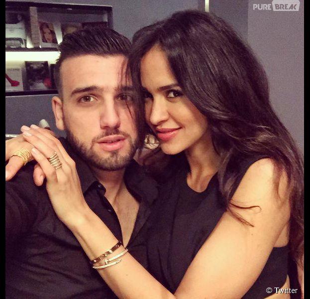 Leila Ben Khalifa et Aymeric Bonnery en couple pour une soirée au cinéma, le 27 avril 2015 au Liban
