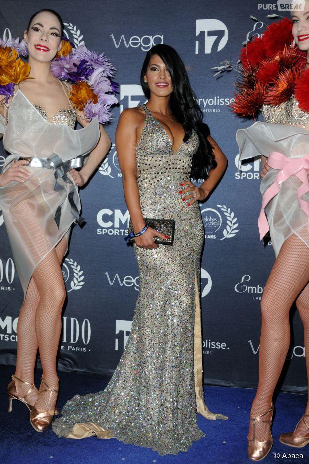 Ayem Nour à la 10ème cérémonie des Globes de Cristal, le lundi 13 avril 2015 au Lido de Paris