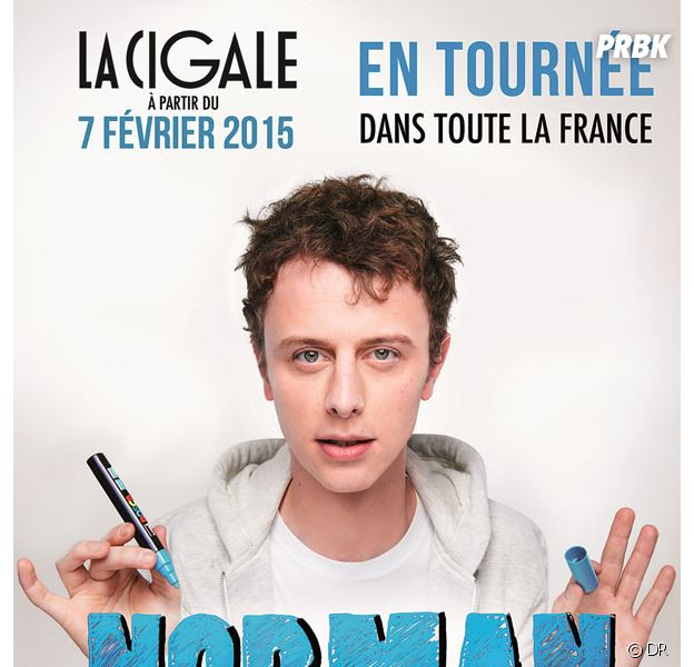 Norman Thavaud sur scène en tournée dans toute la France en 2015