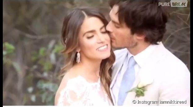 Nikki Reed et Ian Somerhalder : une vidéo de leur mariage dévoilée sur Instagram