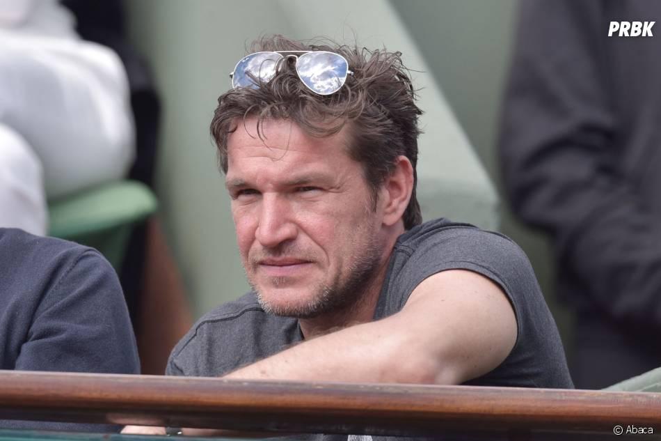 Benjamin Castaldi dans les tribunes lors du match de Jo-Wilfried Tsonga en quart de finale de Roland Garros le 2 juin 2015