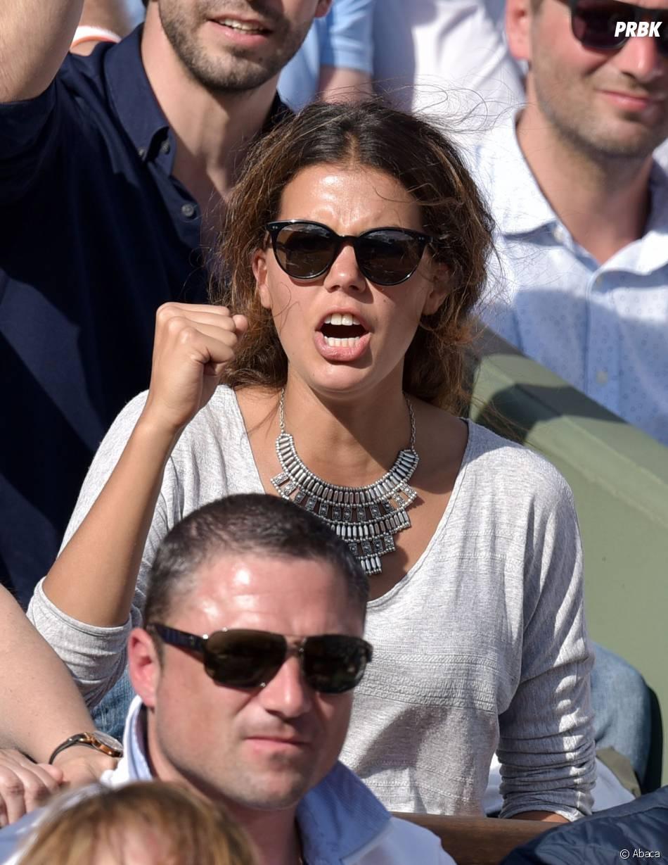 Noura dans les tribunes lors du match de Jo-Wilfried Tsonga en quart de finale de Roland Garros le 2 juin 2015