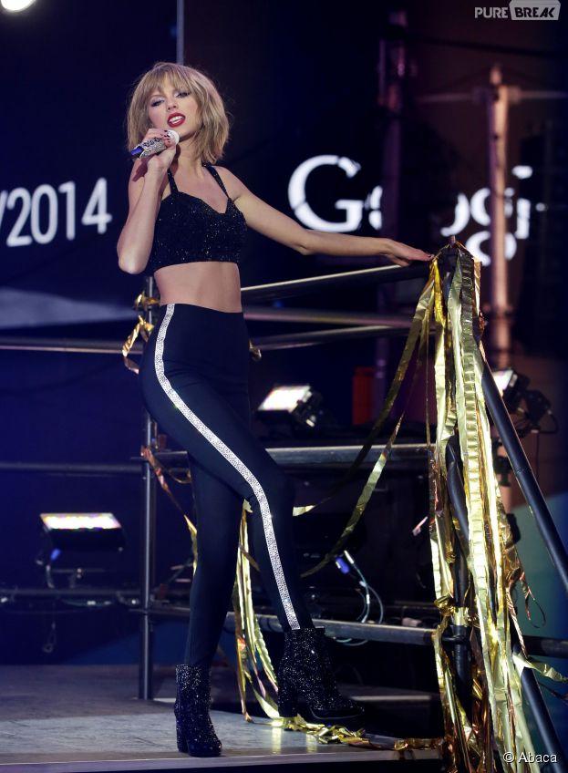 Taylor Swift sexy pour le Nouvel An 2015 à New York