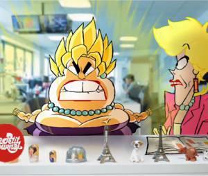 Catherine et Liliane en version dessin animé par Les Kassos dans Le Petit Journal, le 18 juin 2015 sur Canal+