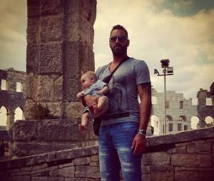 Stéphanie Clerbois (Secret Story) : son compagnon Eric et leur fils Lyam en Croatie en juin 2015