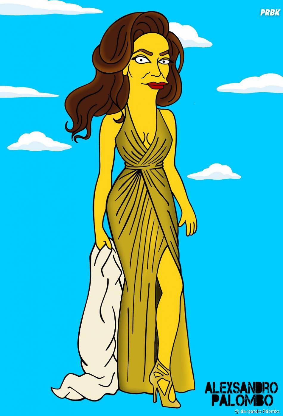 Caitlyn Jenner version Simpson dans une nouvelle série de détournements de l'artiste aleXsandro Palombo