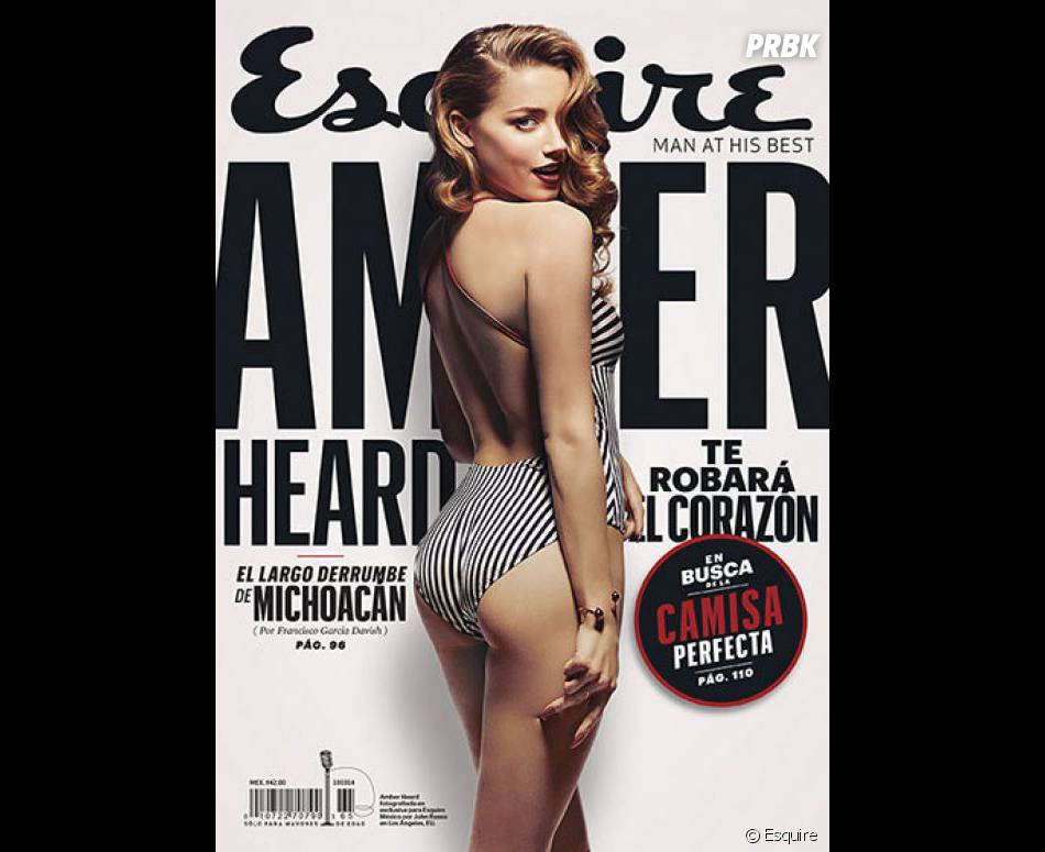 Amber Heard en couverture de Esquire