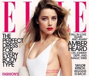 Amber Heard en couverture de Elle