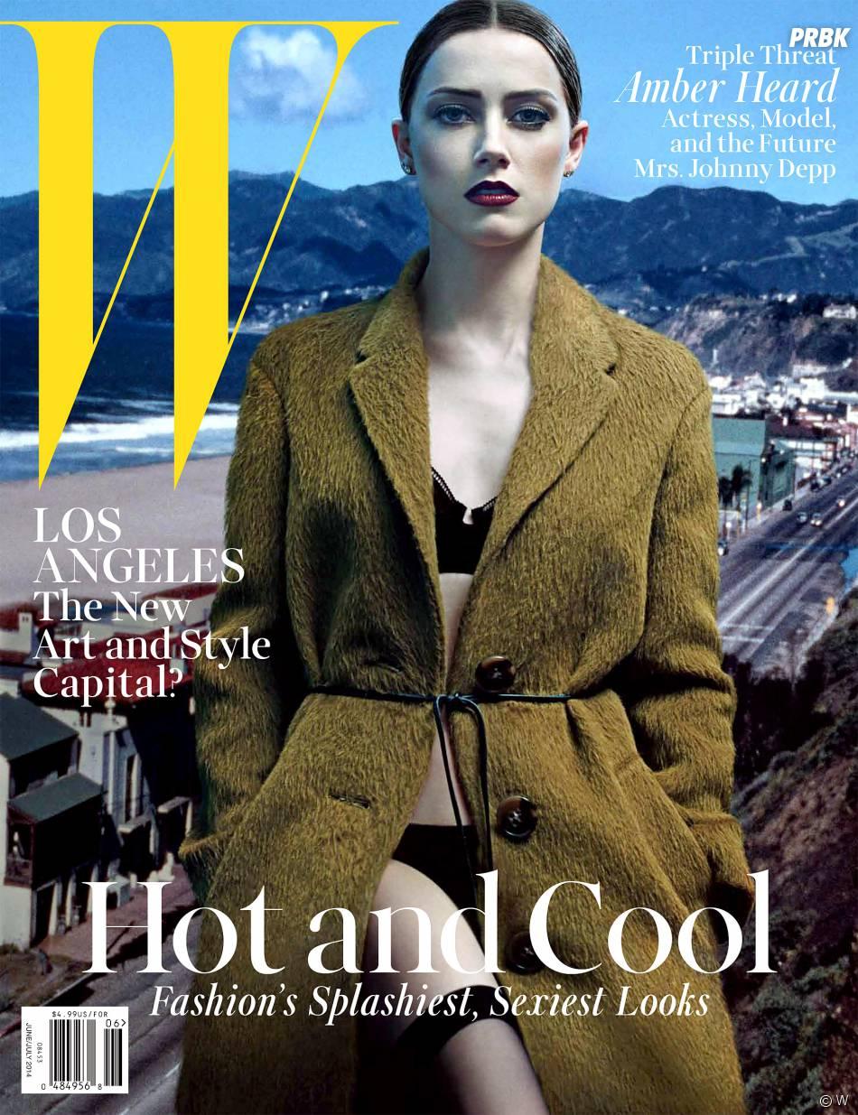 Amber Heard en couverture de W