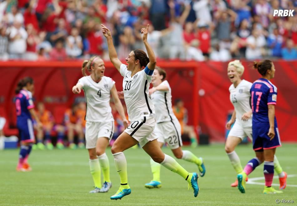 Les joueuses des Etats-Unis fêtent leur victoire en Coupe du Monde, le 5 juillet 2015