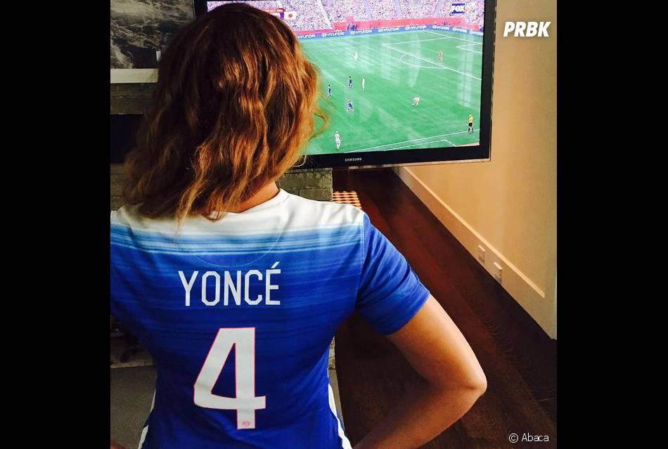 Beyoncé, supportrice de l'équipe des Etats-Unis sur Instagram, le 5 juillet 2015